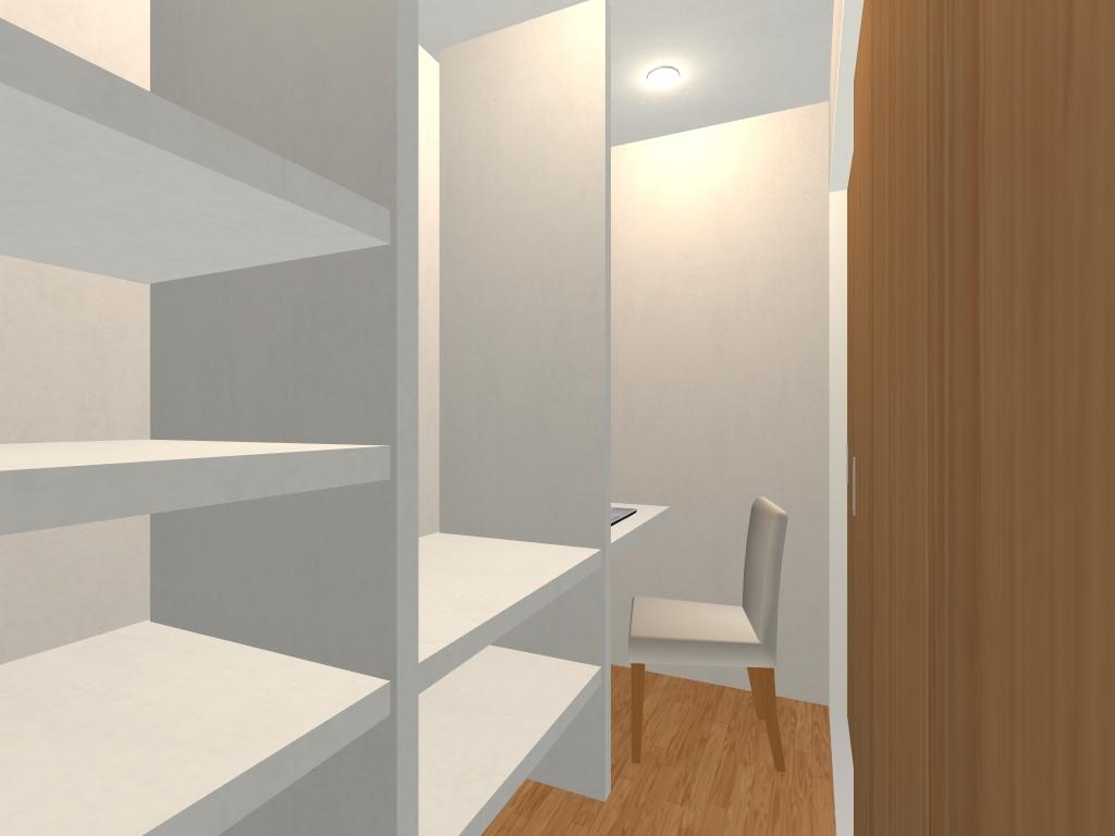 適所適量の収納とくつろぎ空間のある家(リビング)アフター書斎