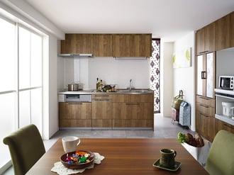 夫婦二人におすすめ!コンパクトスペースに最新機能を組み込んだキッチン