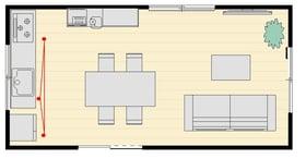 壁付けI型キッチンとサイド収納レイアウトアフター