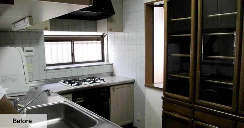 明るくなったキッチン空間before