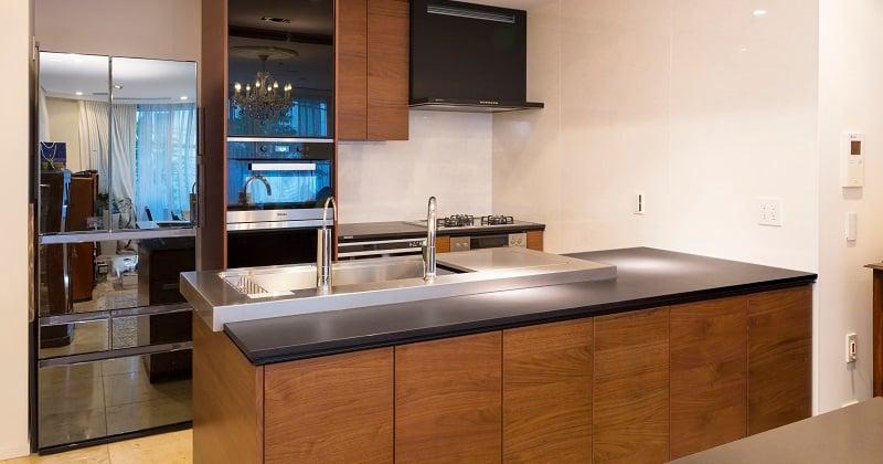 Ⅱ列型キッチン事例
