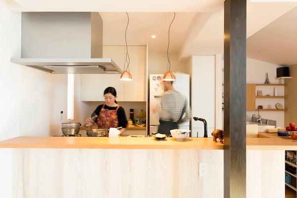 お互いのことを思って考えられたキッチンプラン