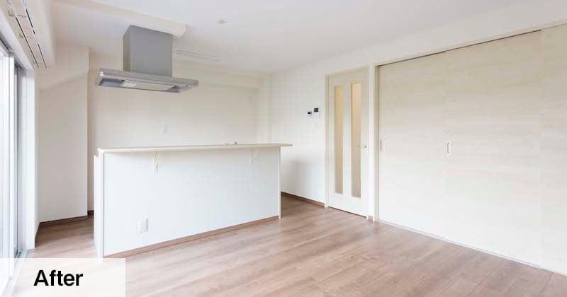 壁付けI型からアイランド型へ。キッチンが変わるとお部屋の印象も変わる!