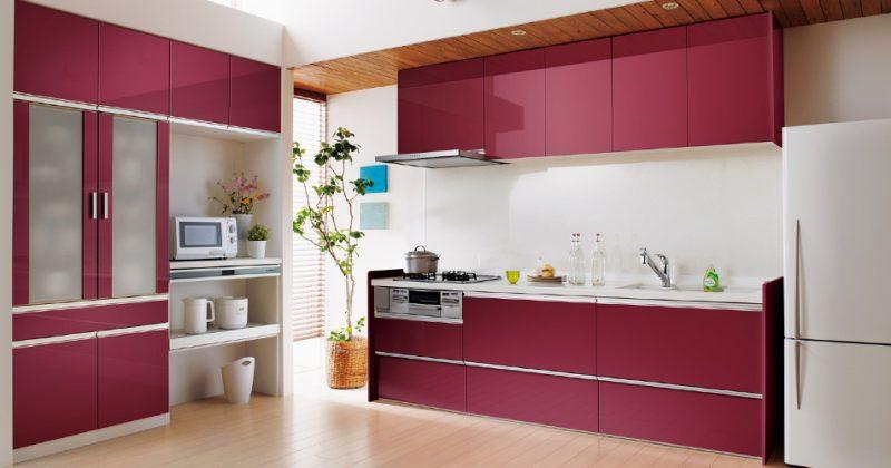 鏡面が美しいオペラチェリーでワンランク上のキッチン空間 サムネイル画像