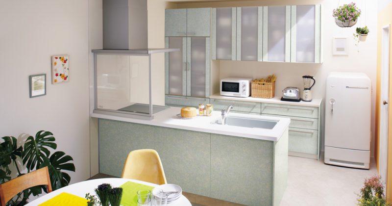 小さなスペースでも憧れの対面型キッチンが実現