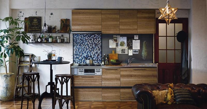 のぞき見!木目調キッチンのおしゃれなコーディネート サムネイル画像