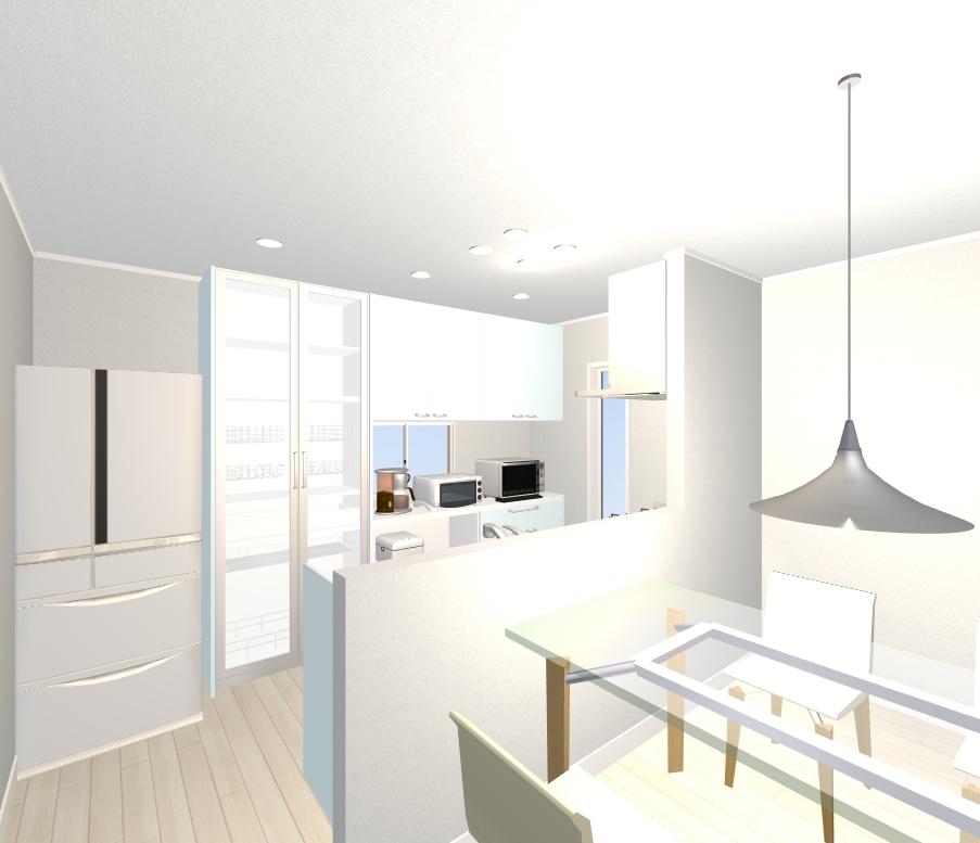 キッチンの後ろどうする?組み合わせ自由な背面収納ですっきり片付くキッチンを実現!