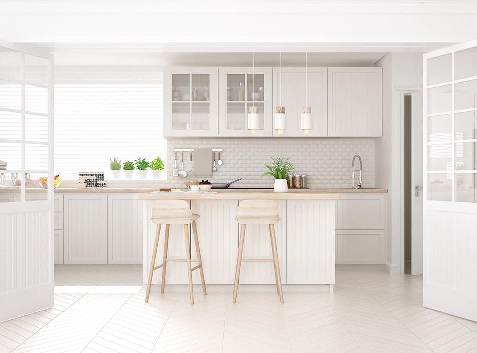 人気の白いキッチンのアイデア集 広々&明るい空間を実現したい! サムネイル画像