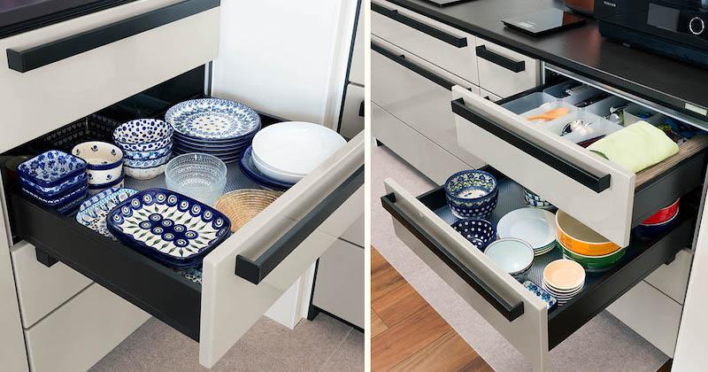 【クリナップCENTRO収納事例】キッチンツールや調味料、食器のとっておき収納術